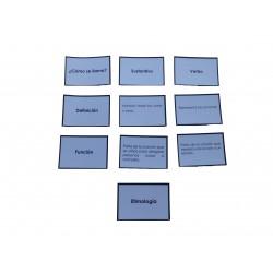 Tarjetas de clasificación y repaso de las funciones gramaticales