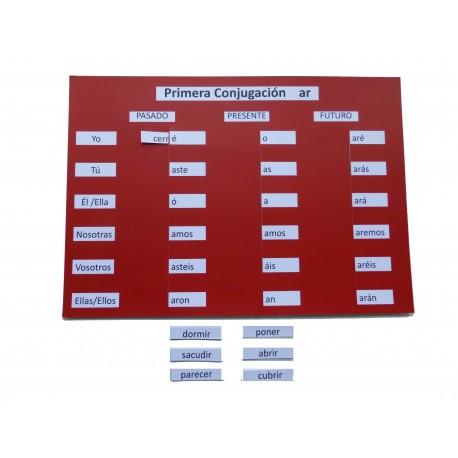Carteles verbos regulares e irregulares