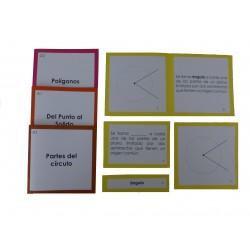 Librillos y tarjetas geometría