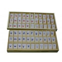 Alfabeto bicolor (no incluye la caja de madera)